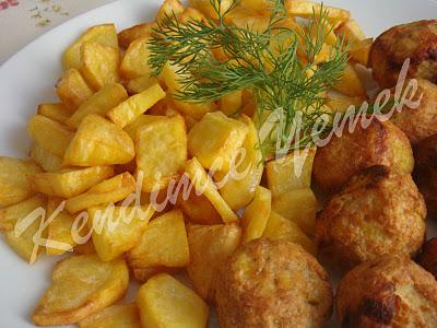 Tavuk Köfte ve Patates Kızartma