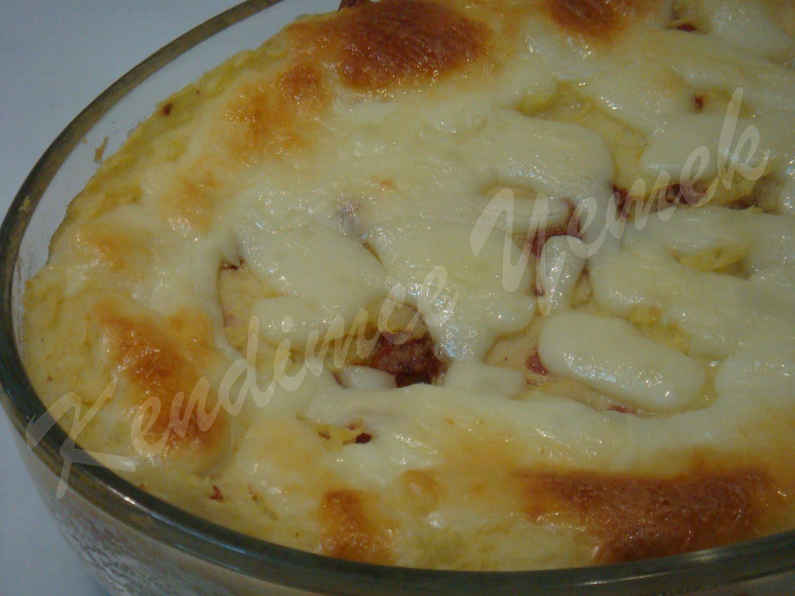 Fırında Kaşarlı Patates Püresi